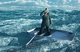 Man boating through big data