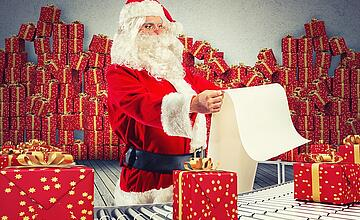 Santa Claus sends you tips for a smart factory